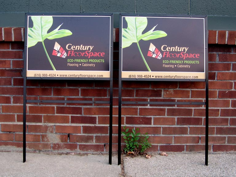 yard signs for Century Floor Space