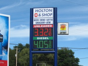 Holton stop and shop gas station digital sign