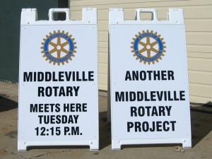 sidewalk signs for rotary club