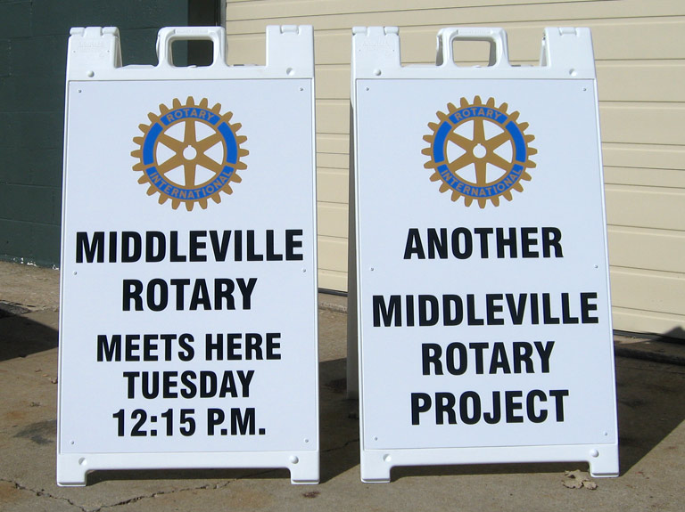 sidewalk signs for rotary club