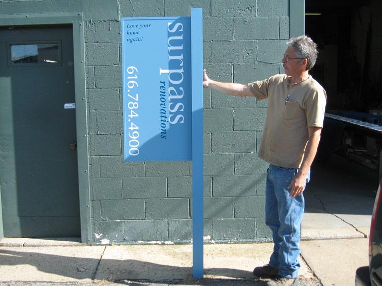 aluminum flag sign