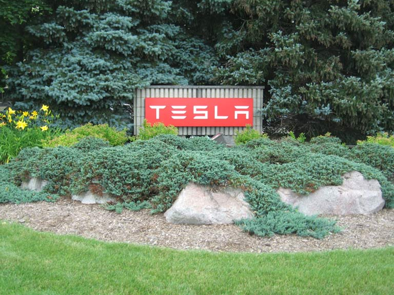 Tesla Motors yard sign