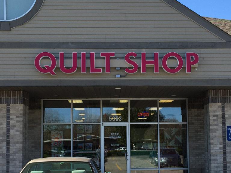Quilt shop channel letters