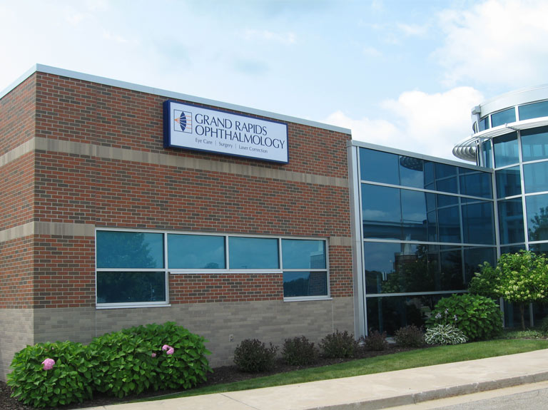 Grand Rapids Ophthalmology wall sign