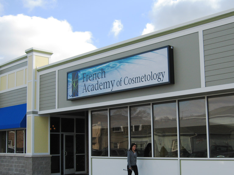 French Academy of Cosmetology sign on building