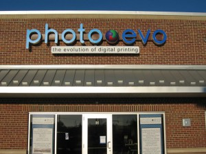 Photo Evo letters on brick wall